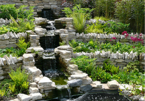 Water Feature in Spring
